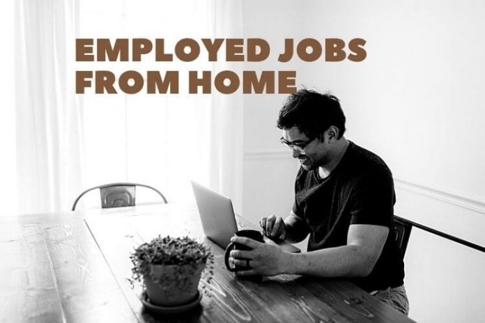 employed jobs from home